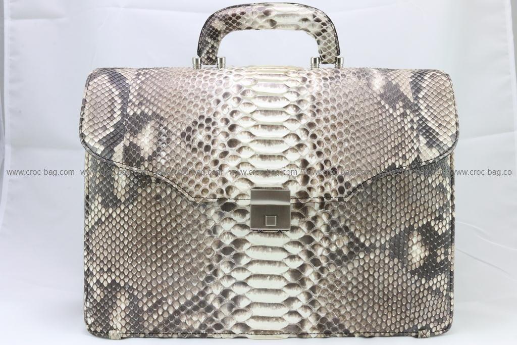 กระเป๋าเอกสารหนังงูเหลือมสำหรับคุณผู้ชาย 2984