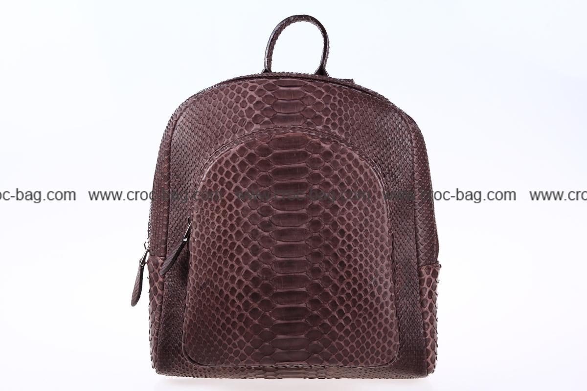 กระเป๋าเป้สะพายหนังงูเหลือม 3555