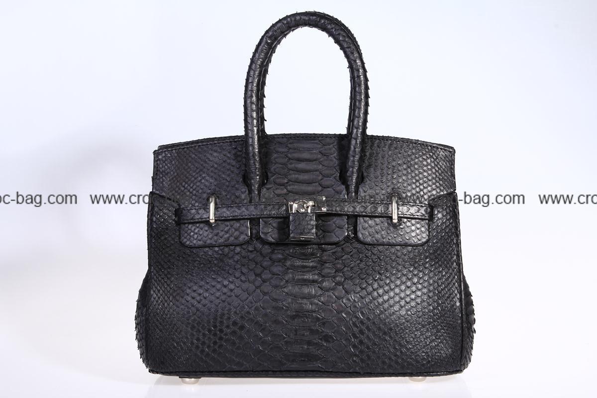 กระเป๋าถือหนังงูเหลือมสำหรับผู้หญิง 3111