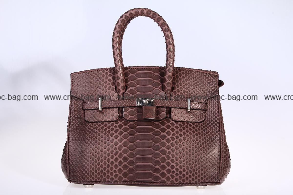 กระเป๋าถือหนังงูเหลือมสำหรับผู้หญิง 3110