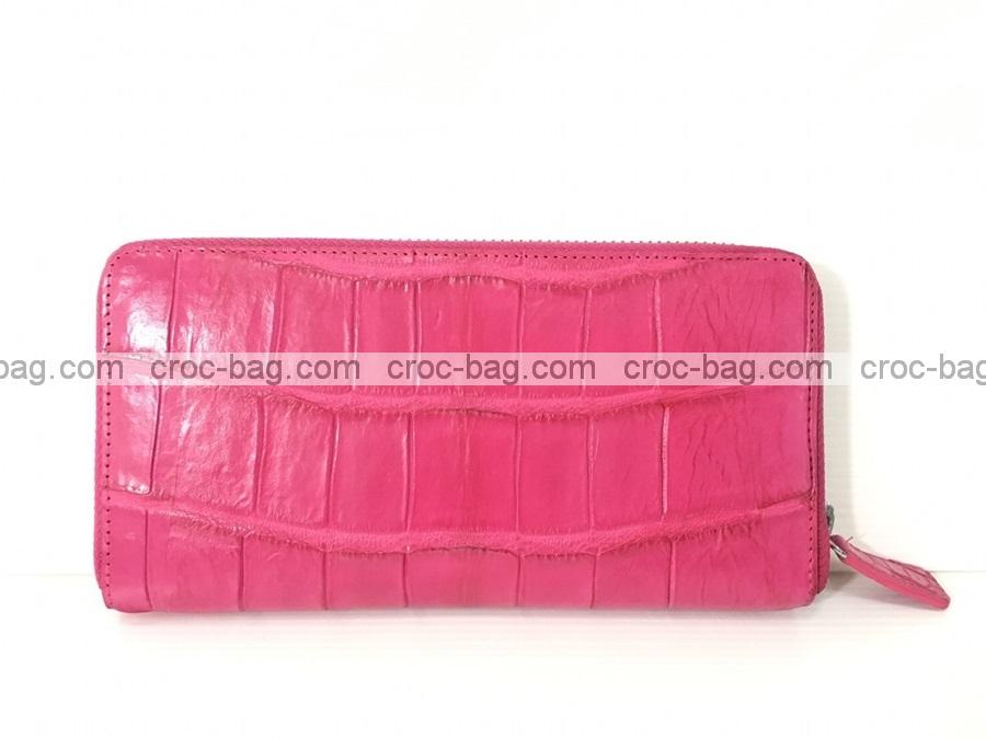 กระเป๋าสตางค์ซิปเดี่ยวหนังจระเข้ 3695