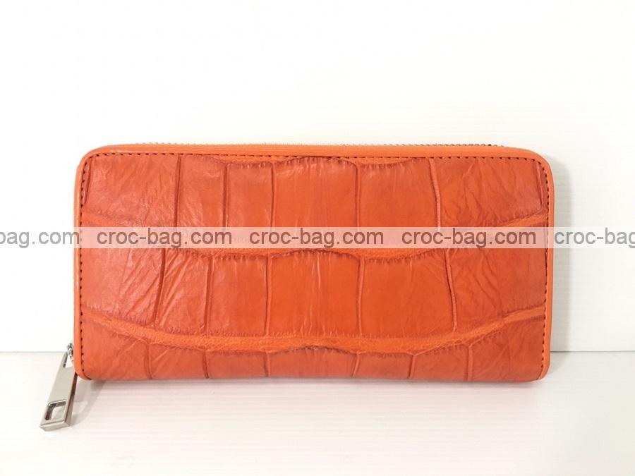 กระเป๋าสตางค์ซิปเดี่ยวหนังจระเข้ 3698