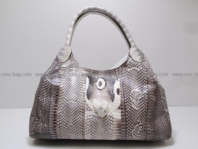 กระเป๋าถือหนังงูเห่าสำหรับผู้หญิง 1483