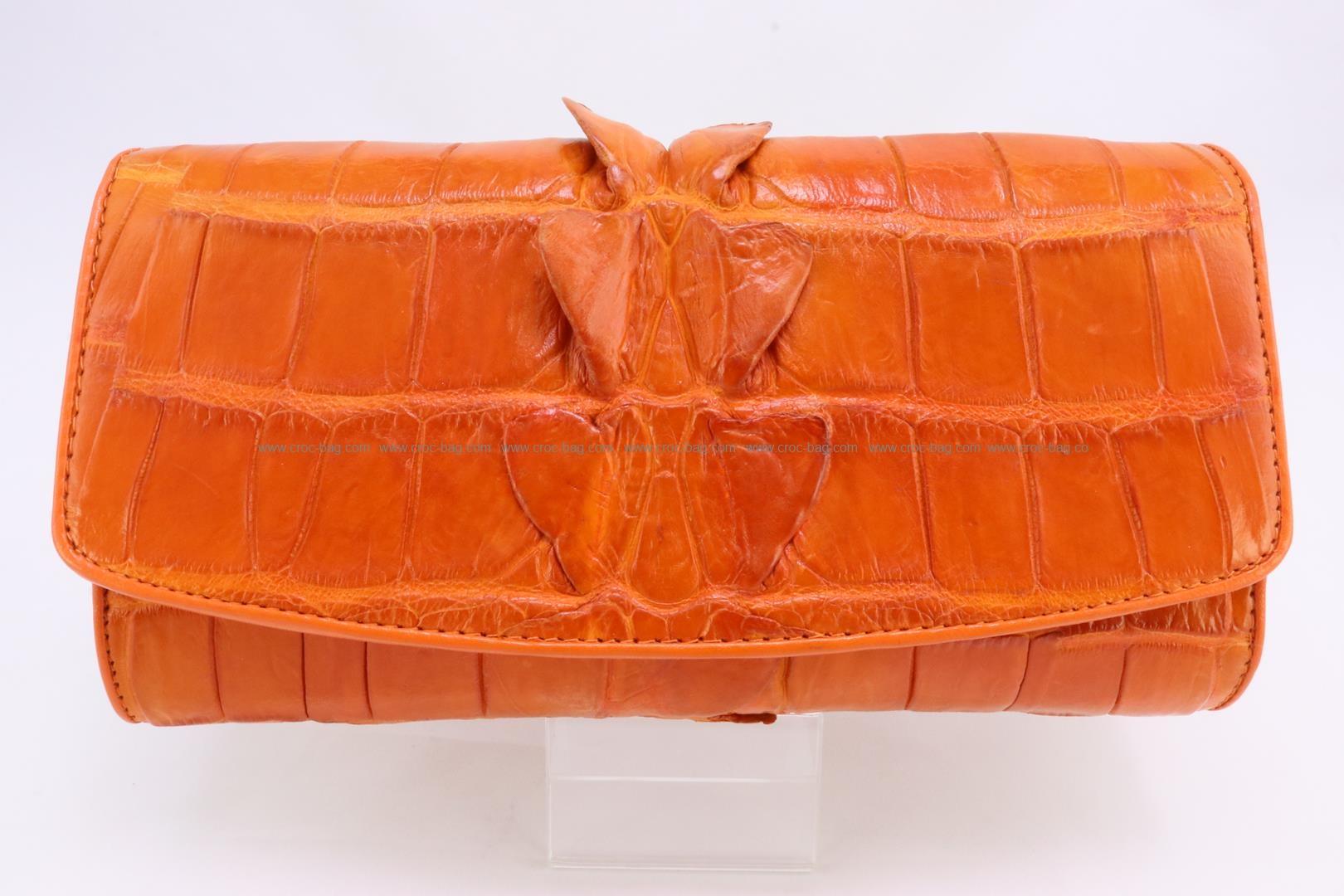 กระเป๋าสตางค์สามพับหนังจระเข้ 3287
