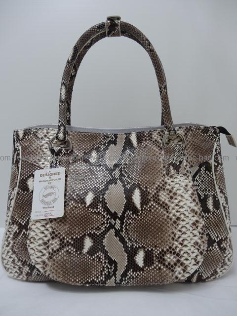 กระเป๋าถือหนังงูเหลือมสำหรับคุณผู้หญิง 672