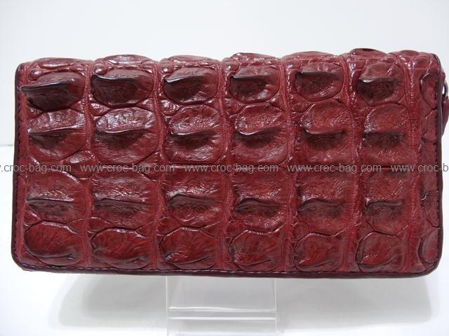 กระเป๋าสตางค์มีซิปหนังจระเข้สำหรับผู้หญิง 362б