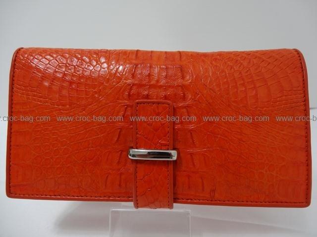 กระเป๋าสตางค์หนังจระเข้สำหรับคุณผู้หญิง 004в