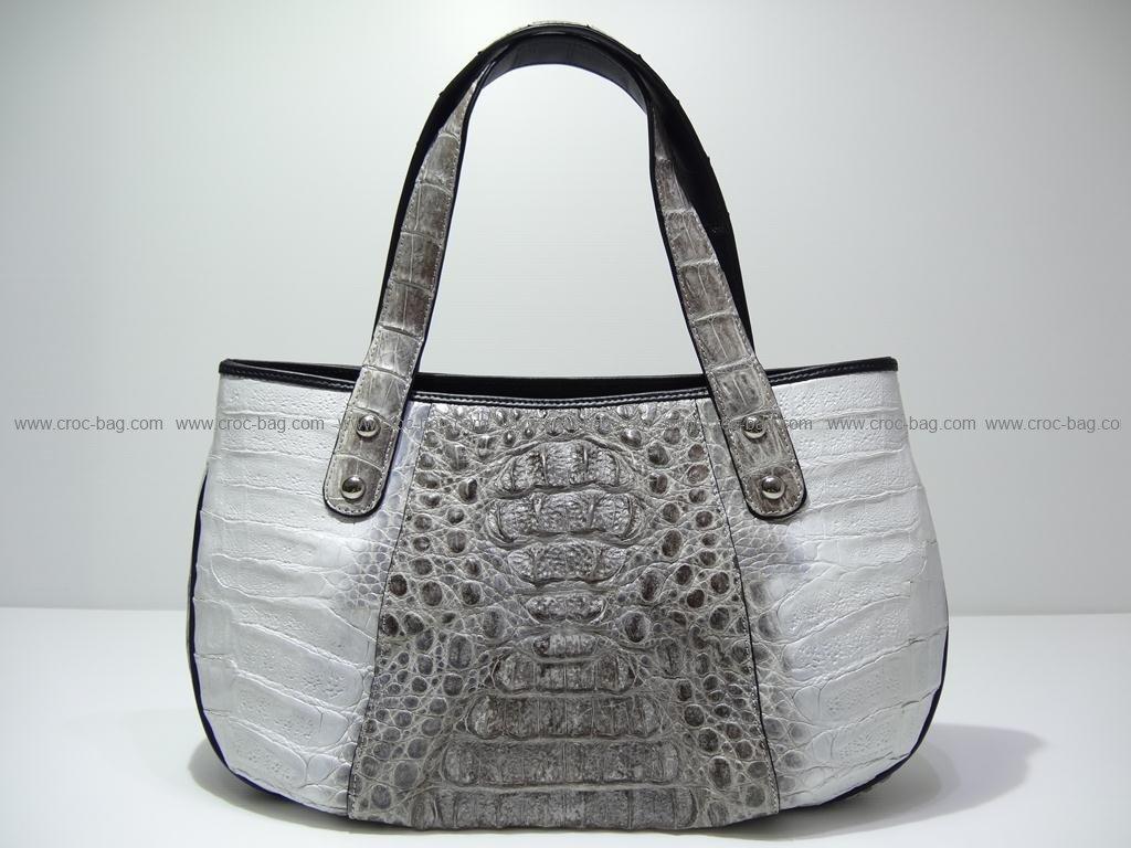 กระเป๋าถือหนังจระเข้สำหรับคุณผู้หญิง 2410