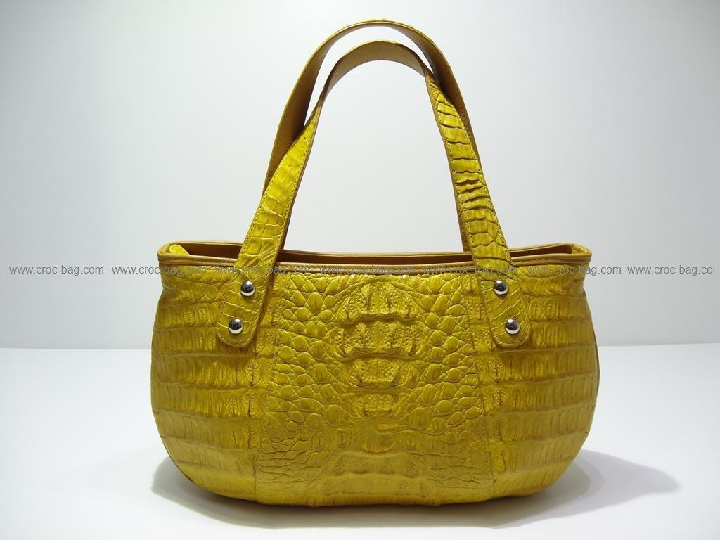 กระเป๋าถือหนังจระเข้สำหรับคุณผู้หญิง 2411