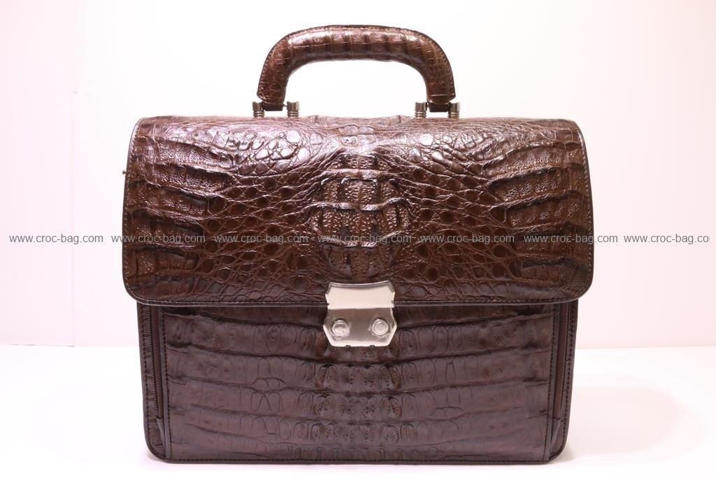 กระเป๋าเอกสารหนังจระเข้สำหรับคุณผู้ชาย  085а