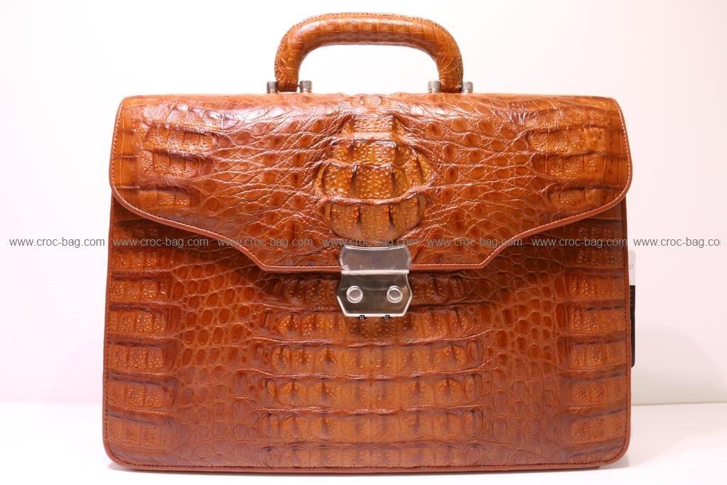 กระเป๋าเอกสารหนังจระเข้สำหรับคุณผู้ชาย 056а