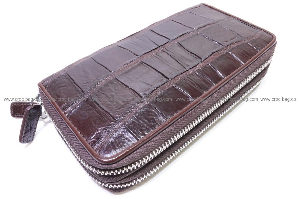 กระเป๋าสตางค์ซิปคู่หนังจระเข้   2669