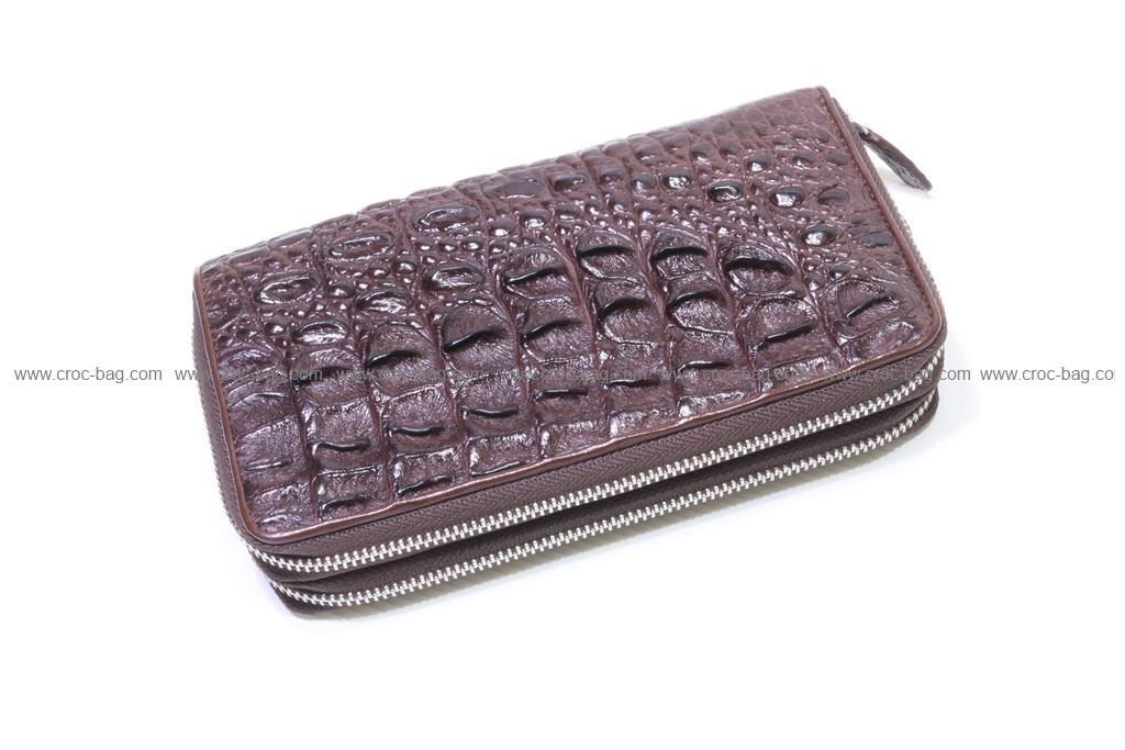กระเป๋าสตางค์ซิปคู่หนังจระเข้  2667