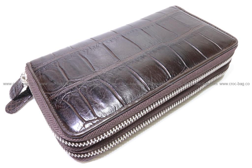 กระเป๋าสตางค์ซิปคู่หนังจระเข้   2670