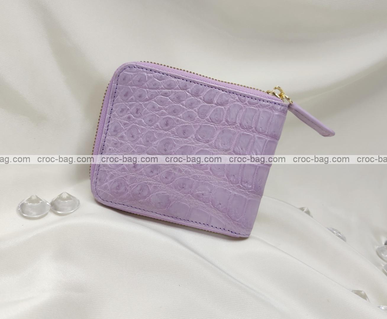 กระเป๋าหนังสตางค์จระเข้สำหรับผู้หญิง 5371