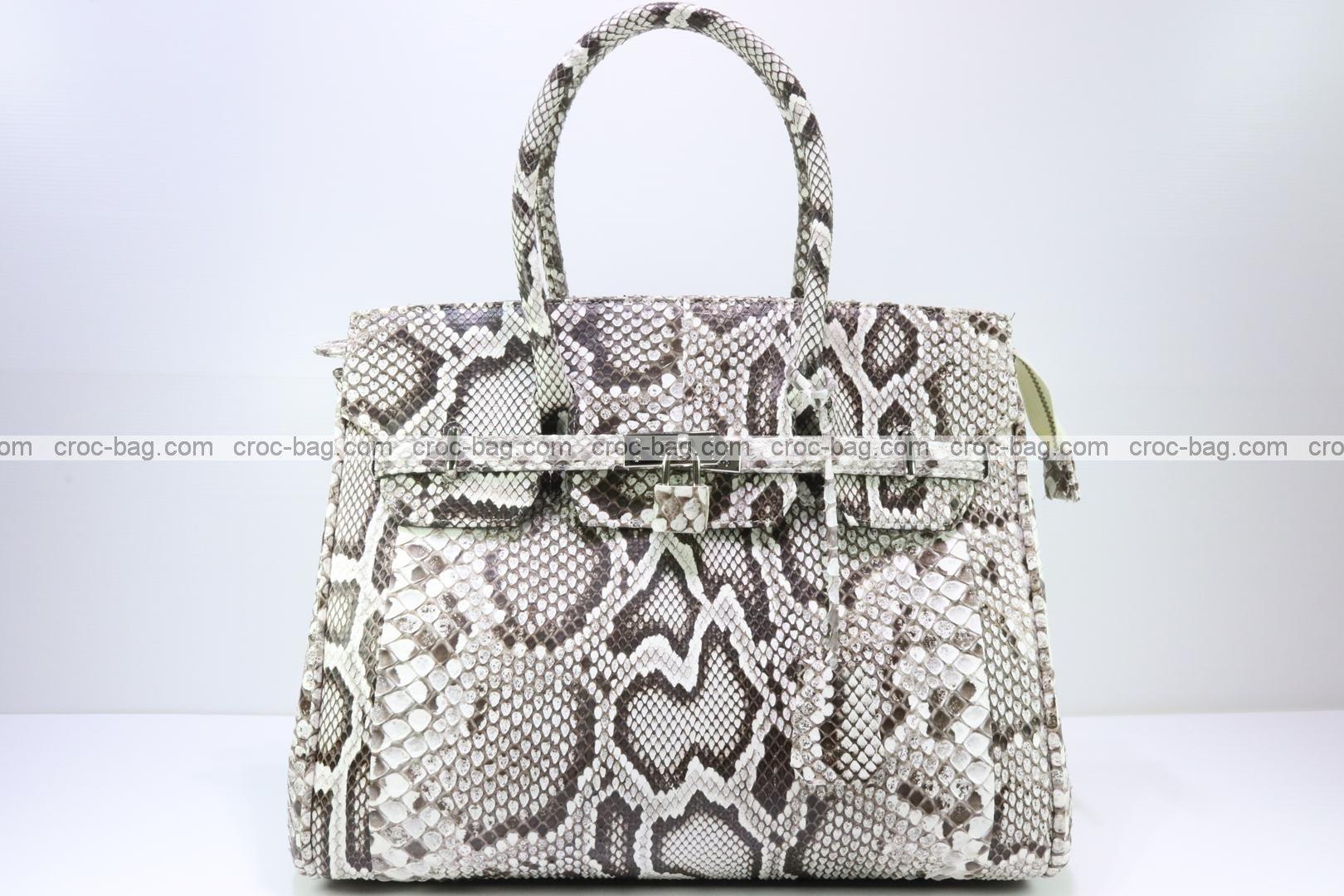 กระเป๋าถือหนังงูหลามสำหรับผู้หญิง 3075