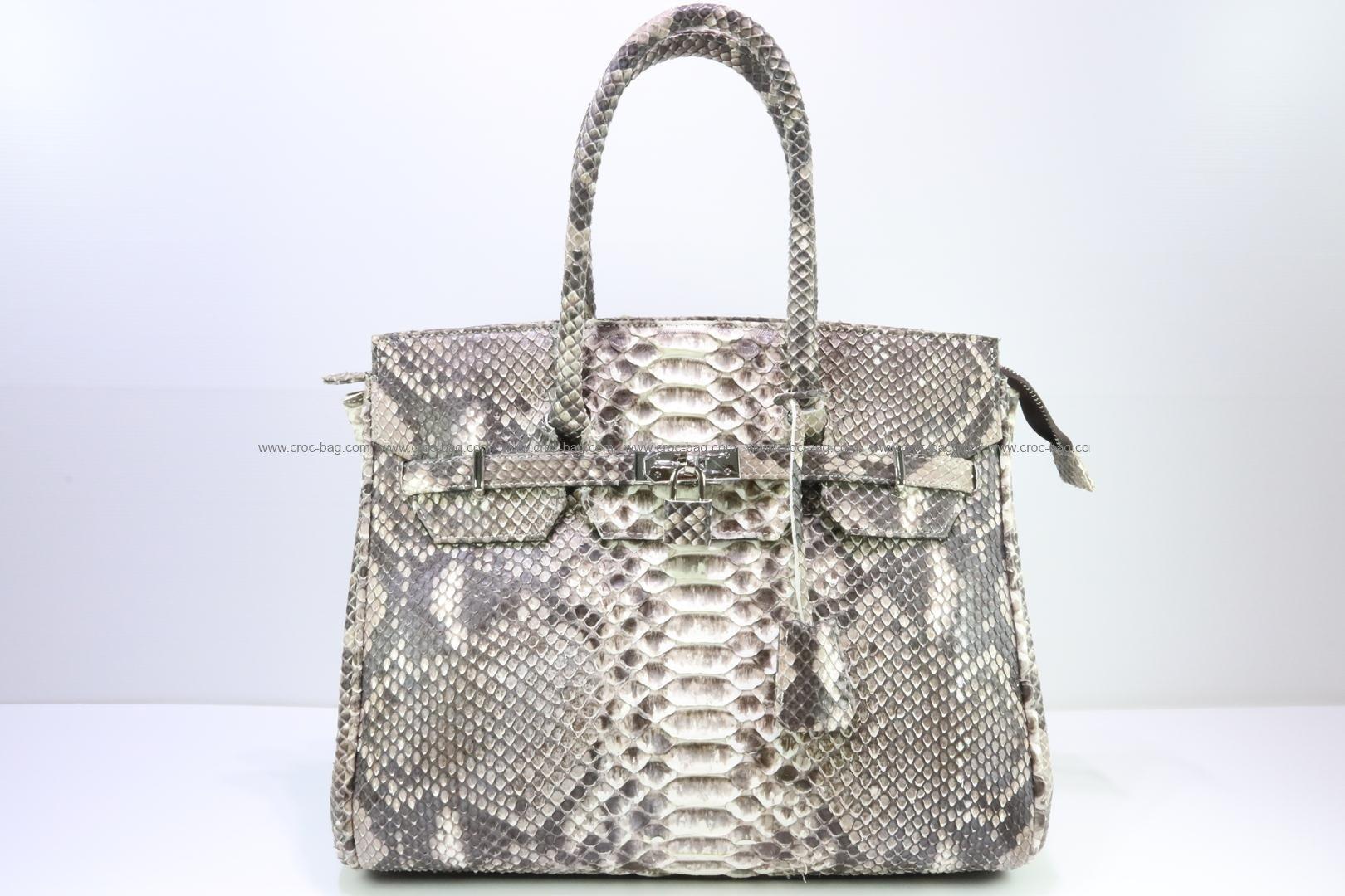 กระเป๋าถือหนังงูเหลือมสำหรับผู้หญิง 3076