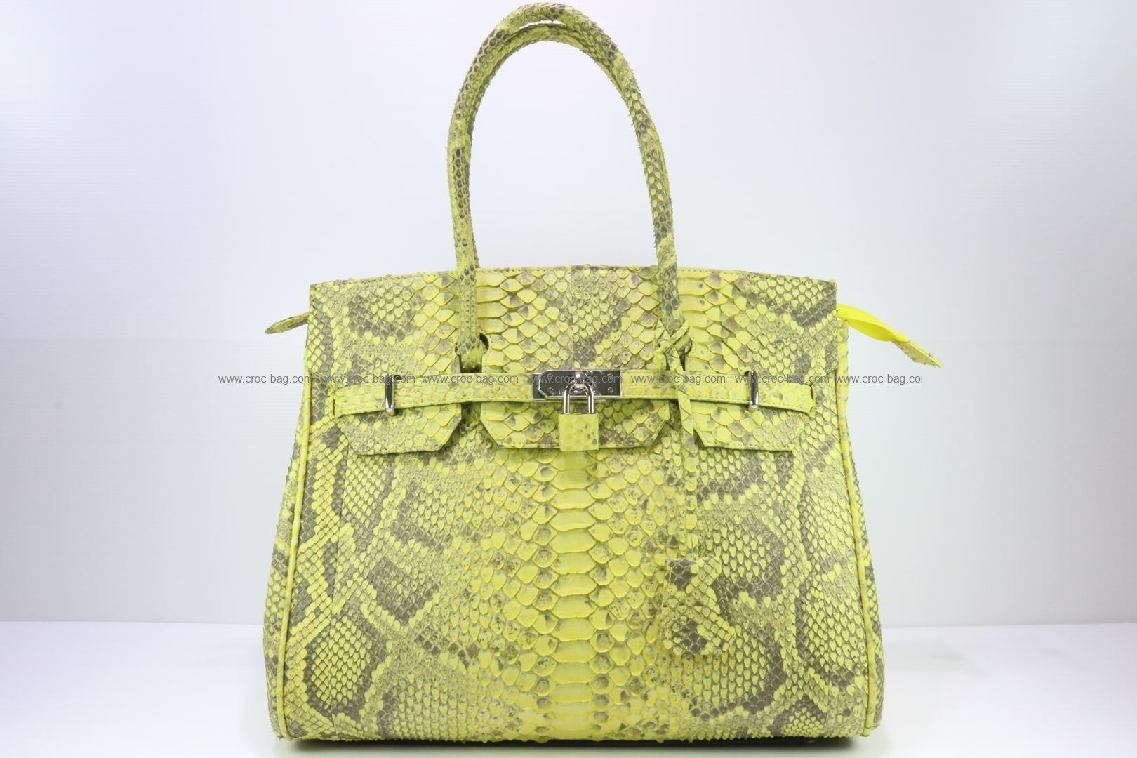 กระเป๋าถือหนังงูเหลือมสำหรับผู้หญิง 3077