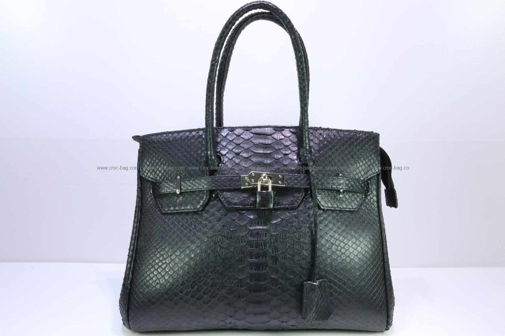 กระเป๋าถือหนังงูเหลือมสำหรับผู้หญิง 3091