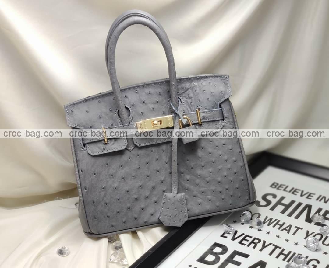 กระเป๋าหนังนกกระจอกเทศหรับผู้หญิง 5280