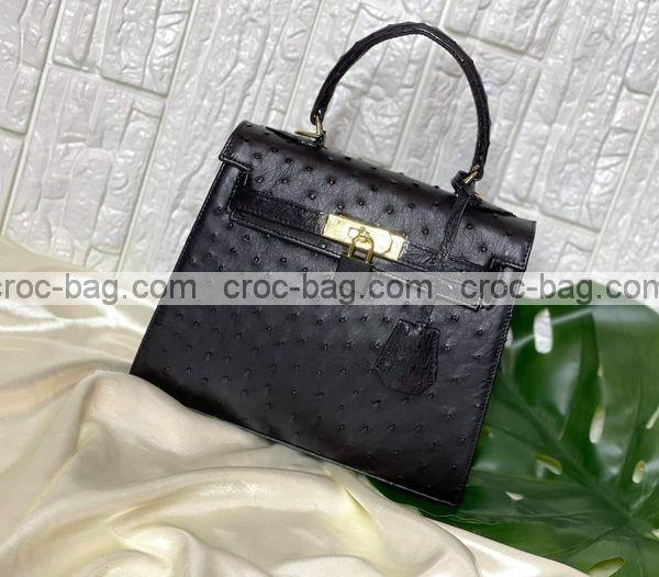 กระเป๋าหนังนกกระจอกเทศหรับผู้หญิง 5295