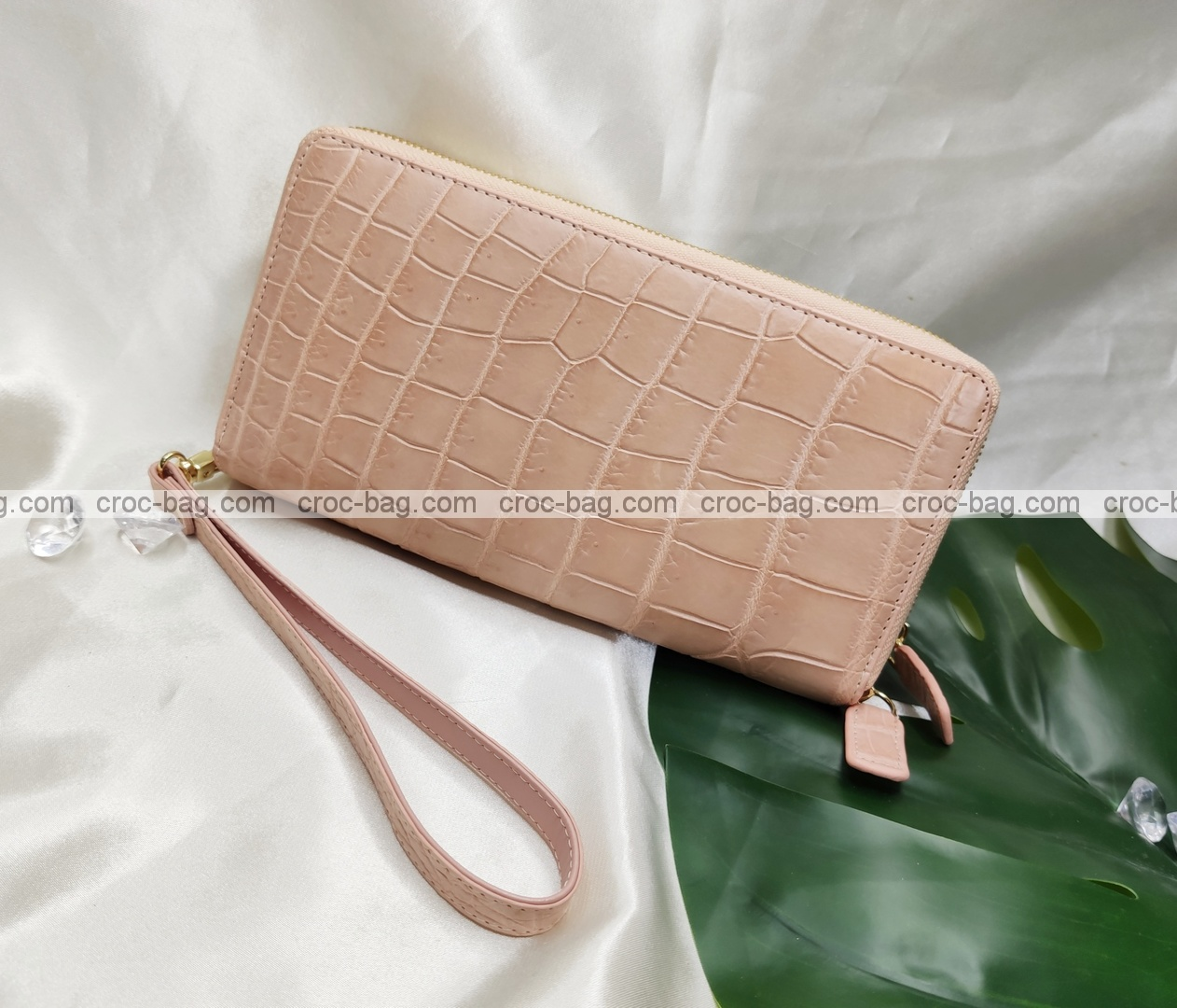 กระเป๋าสตางค์หนังจระเข้สำหรับผู้หญิง 5401