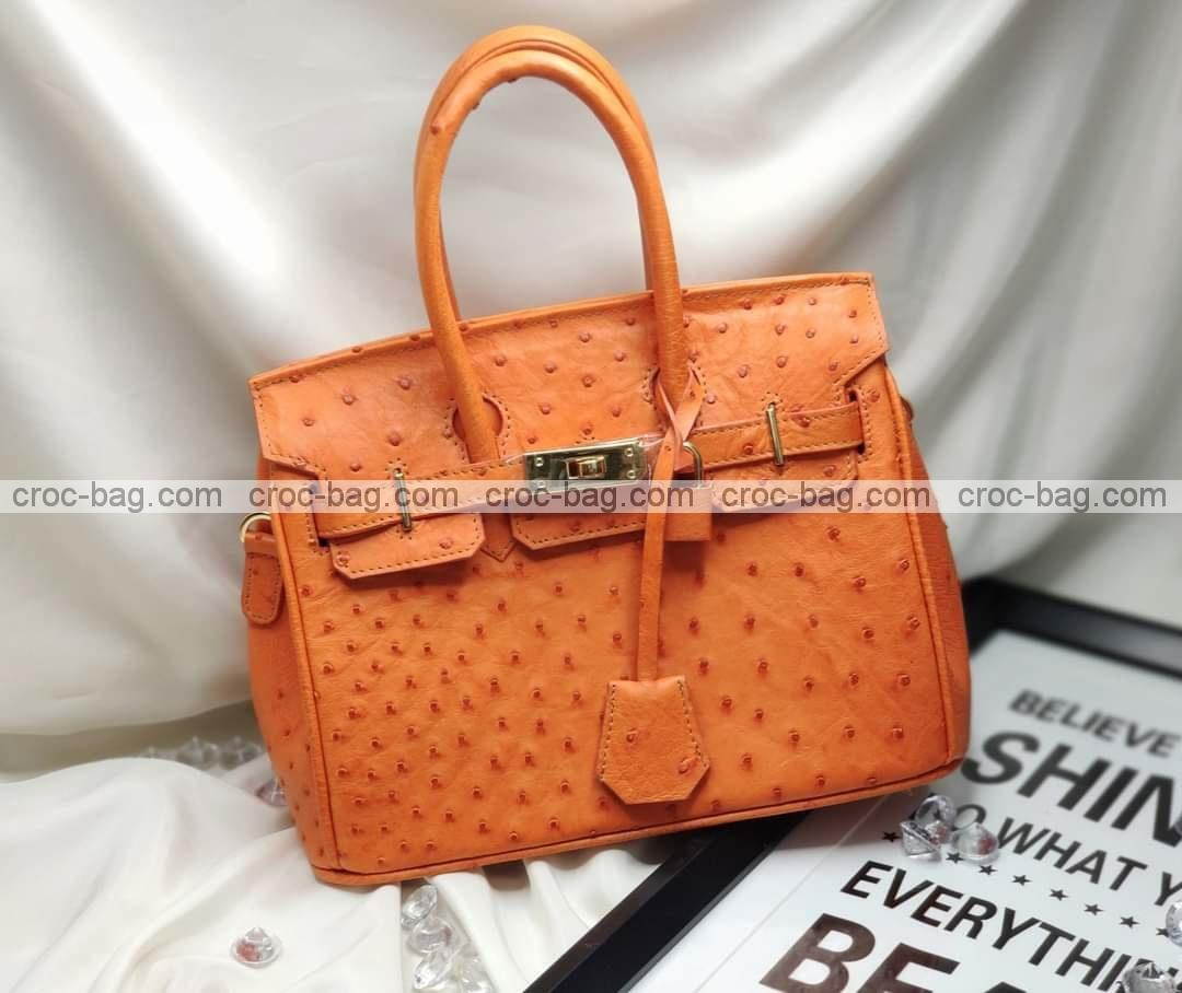 กระเป๋าหนังนกกระจอกเทศหรับผู้หญิง 5282