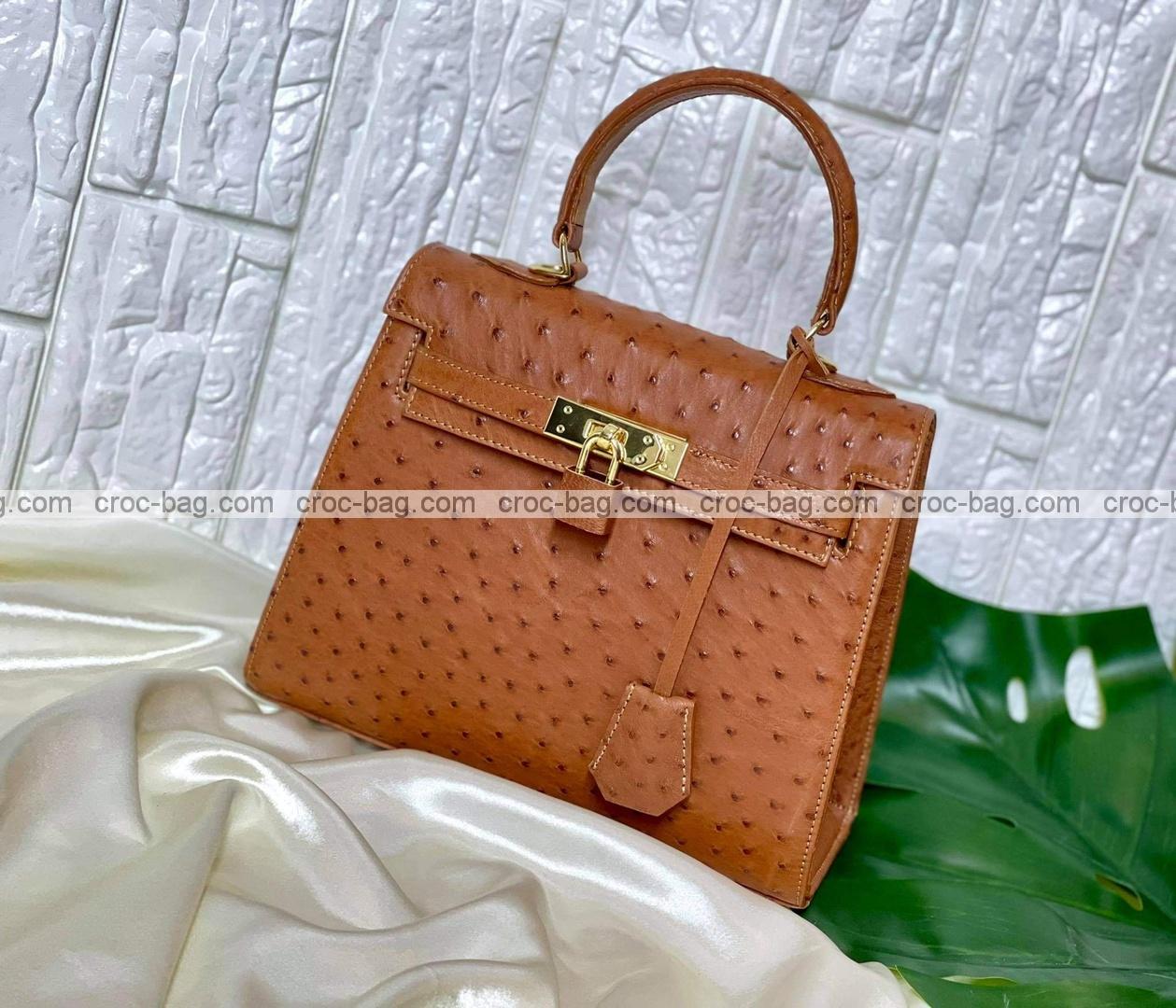 กระเป๋าหนังนกกระจอกเทศหรับผู้หญิง 5298