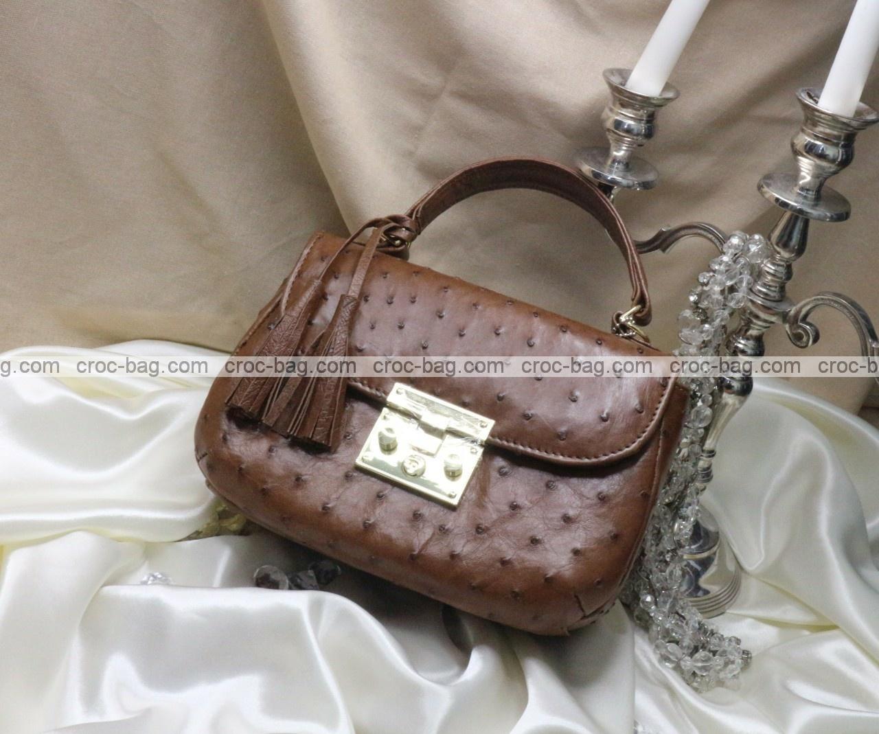 กระเป๋าหนังนกกระจอกเทศหรับผู้หญิง 5294