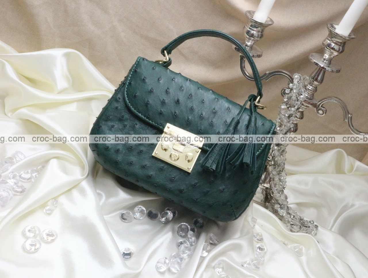 กระเป๋าหนังนกกระจอกเทศหรับผู้หญิง 5292