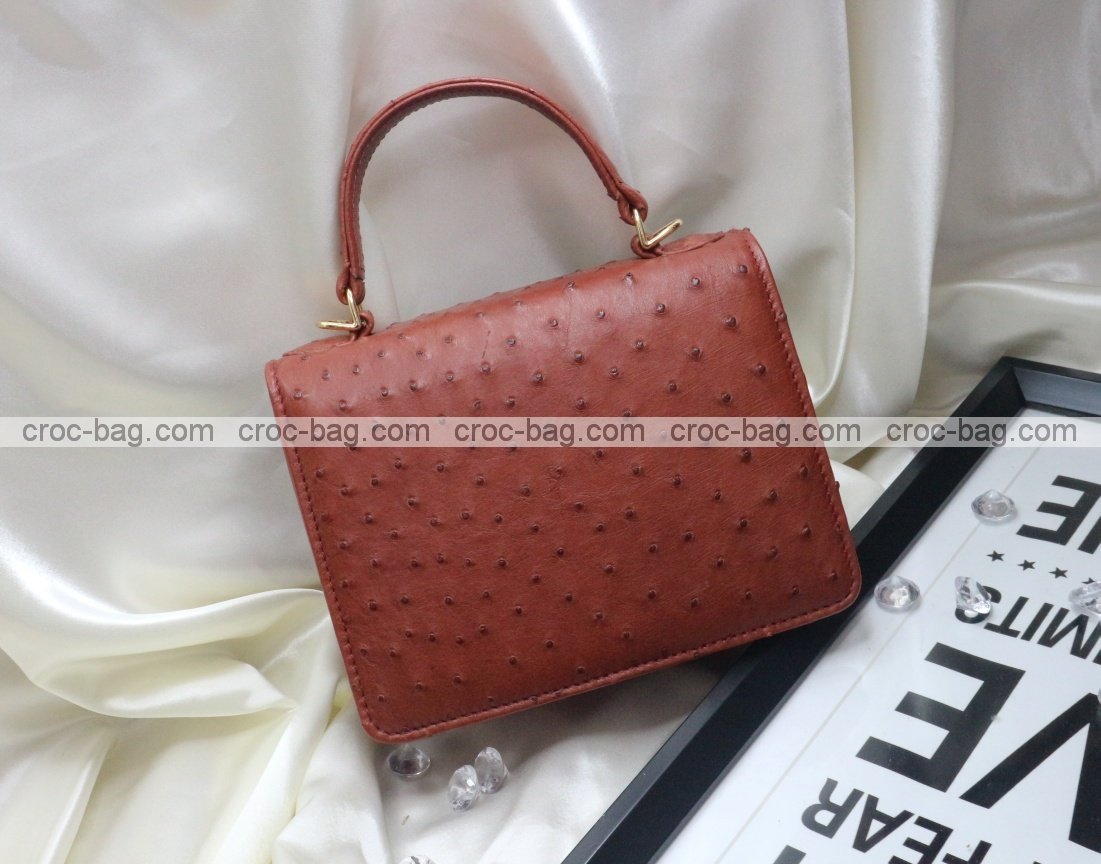 กระเป๋าหนังนกกระจอกเทศหรับผู้หญิง 5291