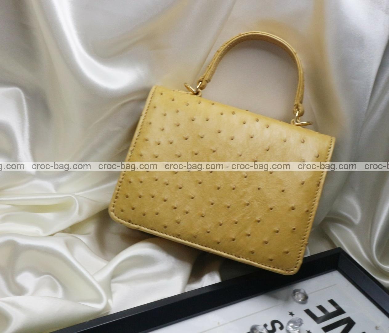 กระเป๋าหนังนกกระจอกเทศหรับผู้หญิง 5288