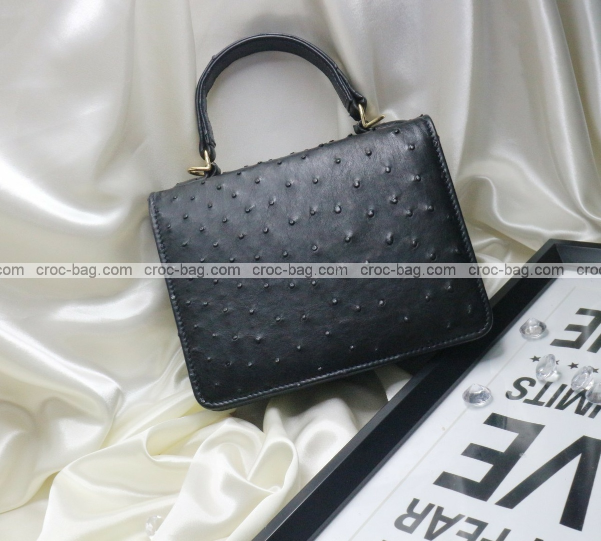 กระเป๋าหนังนกกระจอกเทศหรับผู้หญิง 5287