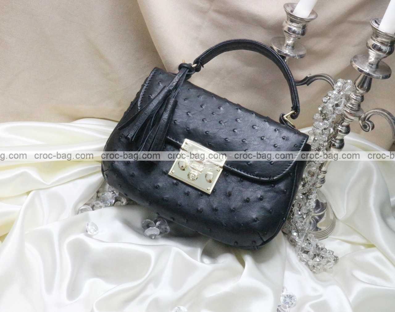 กระเป๋าหนังนกกระจอกเทศหรับผู้หญิง 5293