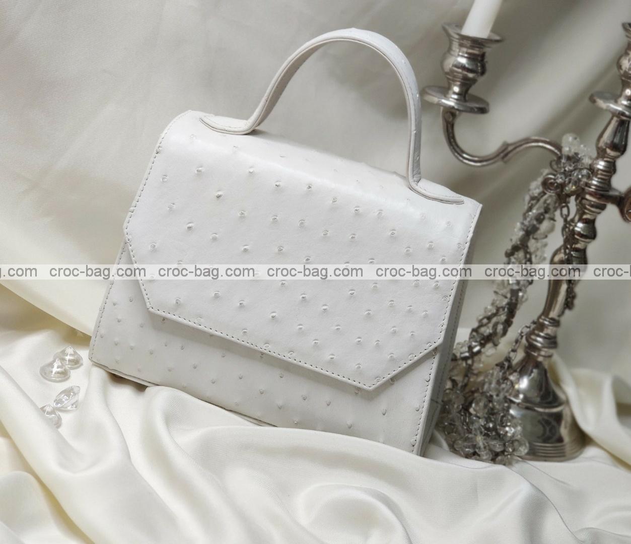 กระเป๋าหนังนกกระจอกเทศหรับผู้หญิง 5284