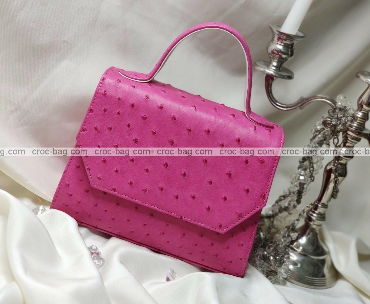 กระเป๋าหนังนกกระจอกเทศหรับผู้หญิง 5286