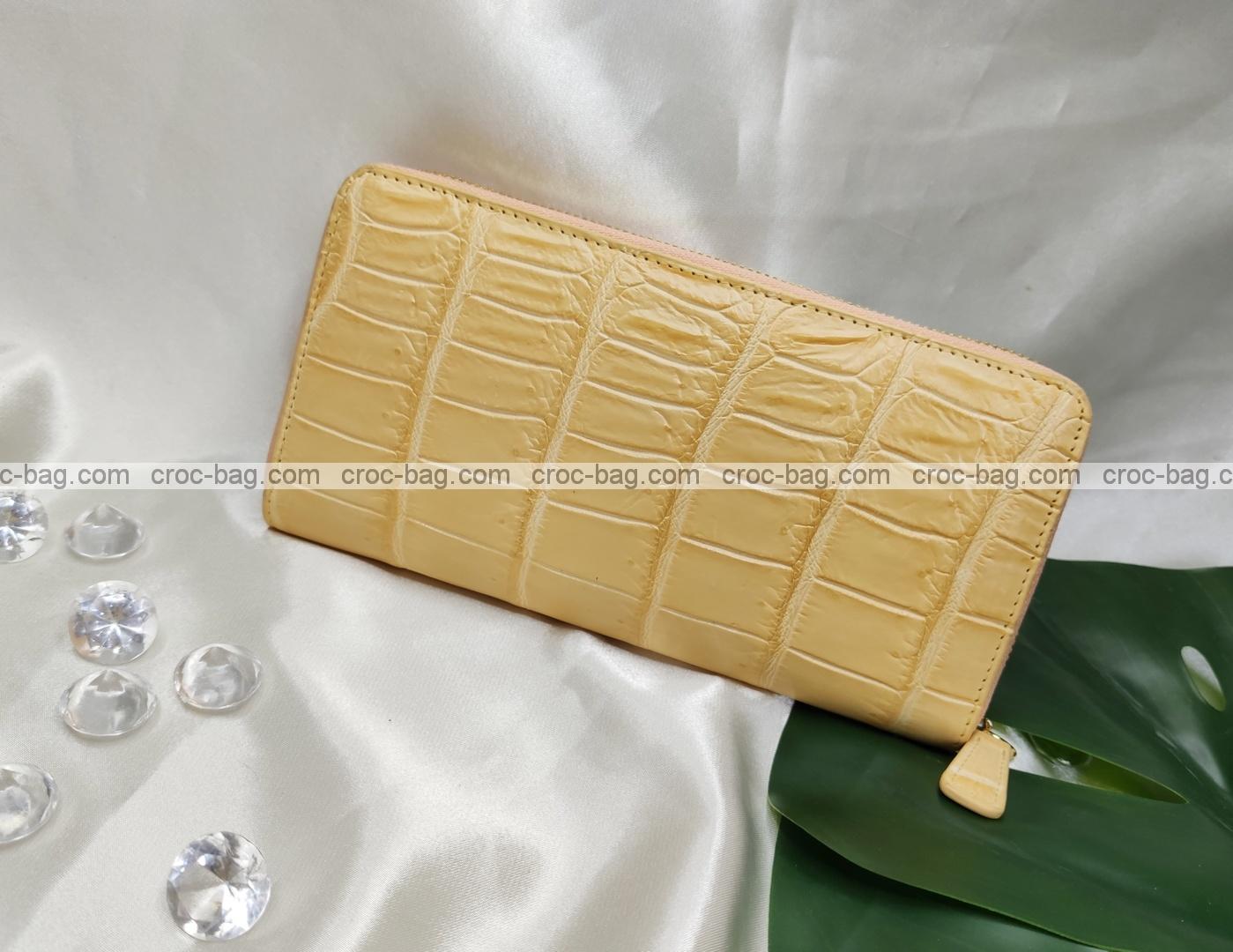 กระเป๋าสตางค์หนังจระเข้สำหรับผู้หญิง 5404