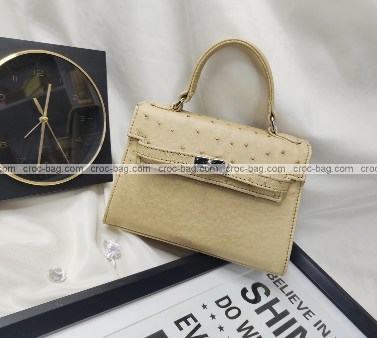 กระเป๋าหนังนกกระจอกเทศหรับผู้หญิง 5430