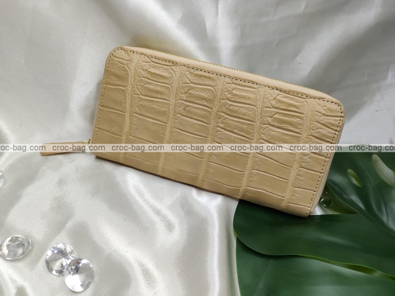 กระเป๋าสตางค์หนังจระเข้สำหรับผู้หญิง 5403