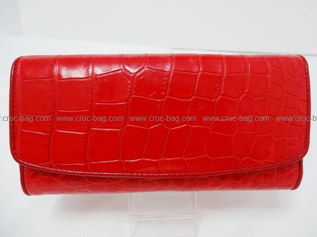 กระเป๋าสตางค์หนังจระเข้สำหรับคุณผู้หญิง 1355
