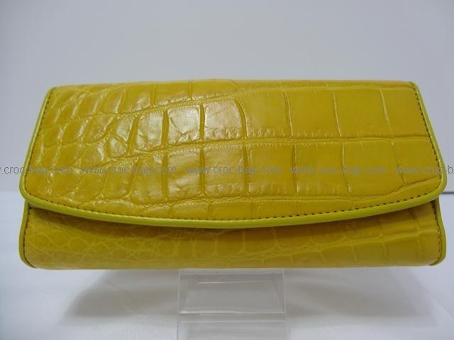 กระเป๋าสตางค์หนังจระเข้สำหรับคุณผู้หญิง 416b