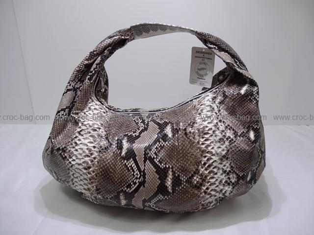 กระเป๋าถือหนังงูหลามสำหรับคุณผู้หญิง 015а