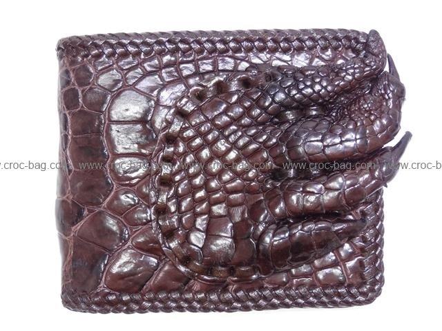 กระเป๋าสตางค์หนังมือจระเข้สำหรับคุณผู้ชาย 034b