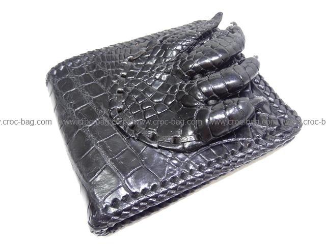 กระเป๋าสตางค์หนังมือจระเข้สำหรับคุณผู้ชาย 035l