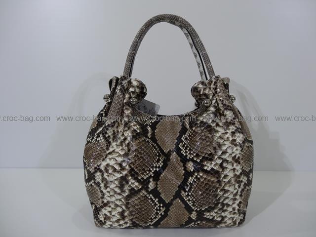 กระเป๋าถือหนังงูเหลือมสำหรับคุณผู้หญิง  657