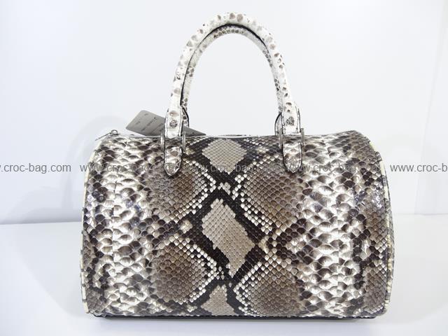 กระเป๋าถือหนังงูเหลือมสำหรับคุณผู้หญิง 189а