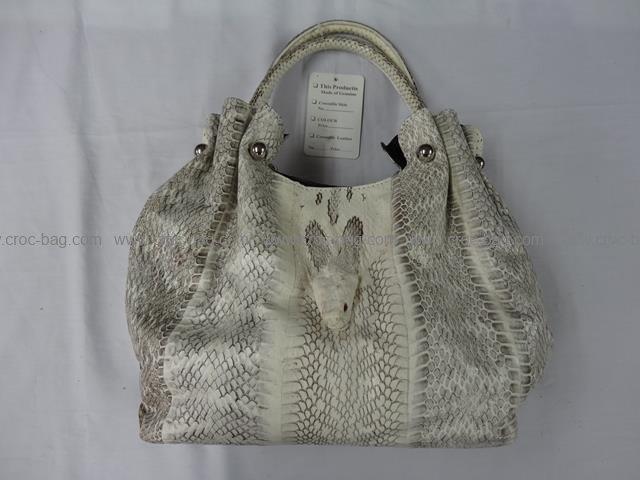 กระเป๋าถือหนังงูเหลือมสำหรับคุณผู้หญิง 660