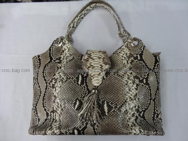 กระเป๋าถือหนังงูเหลือมสำหรับคุณผู้หญิง 669