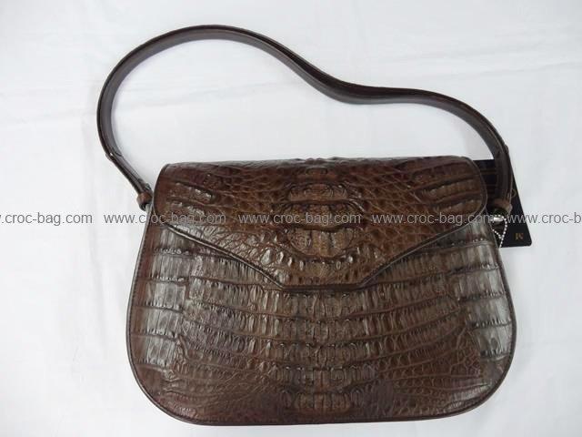 กระเป๋าถือหนังจระเข้สำหรับคุณผู้หญิง 805