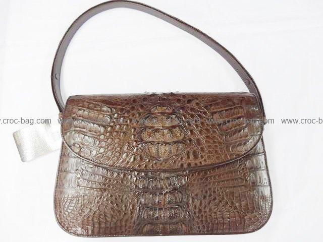 กระเป๋าถือหนังจระเข้สำหรับคุณผู้หญิง 809